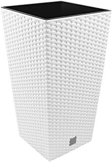 Macetero rectangular alto de ratan premium Rocha
